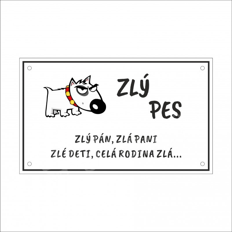 tabulka-pozor-zly-pes-25x15