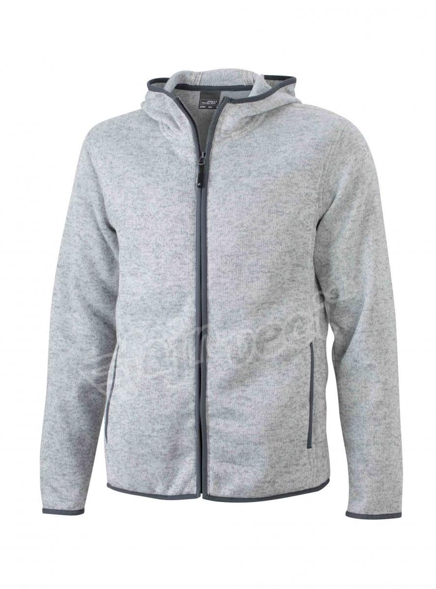 jn589-mens-knitted-fleece-hoody