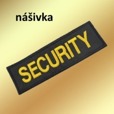 SECURITY nášivka 12x4cm