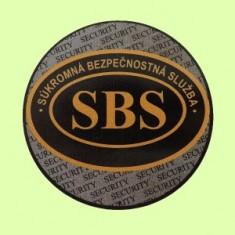 SBS logo nálepka