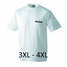 Prac. tričko PZ biele 3-4XL