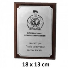 IPA INT plaketa 18x13cm
