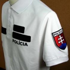 Polokošeľa biela 2x flok POLÍCIA