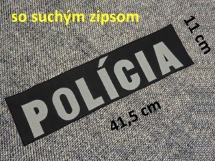Vyšív. nápis POLÍCA SZIP
