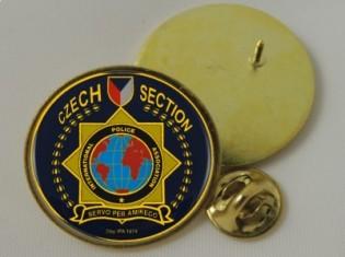 Odznak napichovací Ø3cm SCR