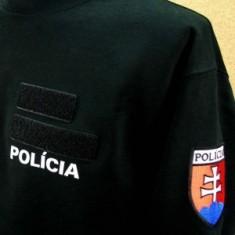 Mikina čierna 2x flok POLÍCIA