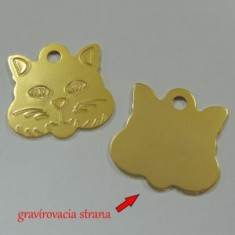 Gravírovaná známka mačka