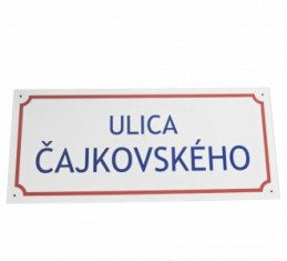 Tabuľa s názvom ulice