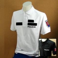 Polokošeľa 2x výšivka POLÍCIA