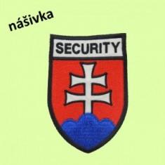 Vyšívaný znak SECURITY-náš.