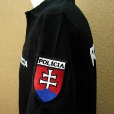 Polokošeľa čierna 2x flok POLÍCIA