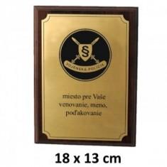 VOP plaketa 18x13cm