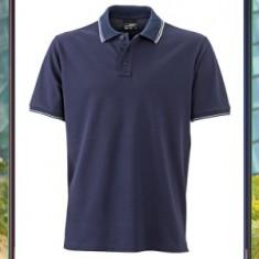 Men's Polo Contrast Stripe