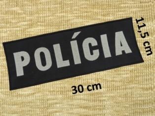 Vyšív. nápis POLÍCA - refl.