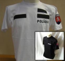 Tričko 2x výšivka POLÍCIA