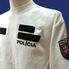 Mikina biela 2x flok POLÍCIA