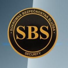 SBS logo okrúhle nálepka